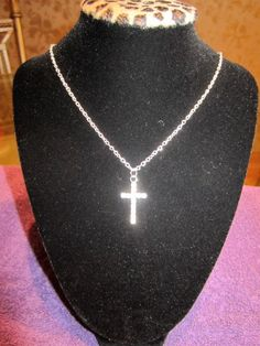 Simple Cross Necklace-$25.00-buy it at Rack Bling on Etsy.com