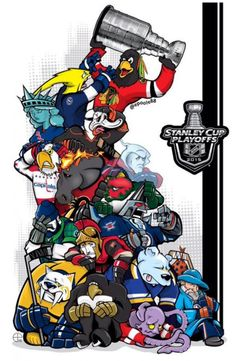 Amazing fan art to get you excited for the NHL Stanley Cup Playoffs. - NHL Playoffs Mascot Art by Eric Poole Blackhawks De Chicago, Blackhawks Hockey, Creative Logo, Nhl Logos, Sports Logos, Sports Memes, Hockey Memes, Funny Hockey, Nhl Season