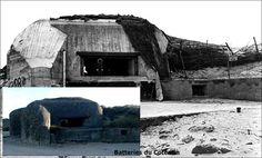 June 1944 Utah Beach Dunes varreville a typical bunker R677 for Canon 88 mm Matching now  Juin 1944 Utah Beach Dunes de varreville une casemate type r677 pour canon 88 mm Matching actuellement
