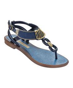 581533d44f9c4 Grendha Blue Exotic T-Strap Sandal - Women