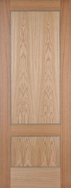 Monaco Oak 2-Panel Bespoke - contemporary style door for modern homes with stunning Ebony and Sycamore inlays