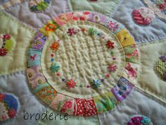 patchwork, embroidery, applique and quilting