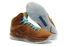 new product b768f 4ef34 Buy Brown   Sea Royal Nike Lebron 10 EXT Suede Sea, Nike Basketball Shoes,