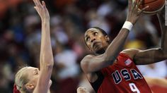 Lisa Leslie (#9) won four Olympic gold medals with the U.S. before retiring from…