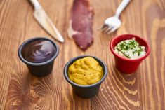 a mustard sauce along with other two sauces. This is how you make teppanyaki mustard sauce Subway Southwest Sauce, Sauce Chasseur, Sauce Au Curry, Salsa Dulce, Mayonnaise Recipe, Deli Food, Teppanyaki, Low Carb Sauces, Healthy Detox