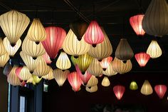 A large cluster of lanterns makes a huge impact in any room!