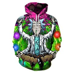 Neon Tiger  Head Hoodie Summer Festival Fashion Rave Aztec Style Hooded top