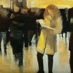 ARTIST: David Allen Dunlop    TITLE: NYC, Grand Central Station, Reader