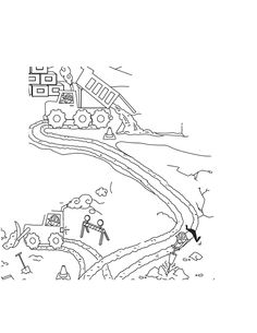 Race Track Coloring Page Scene Sketch Coloring Page build a