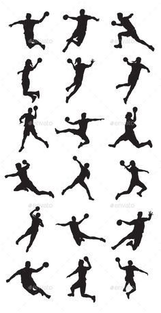 Handball Player by meriang Handball Player silhouettes.In this files include AI and EPS versions. You can open it with Adobe Illustrator CS and other vector Volleyball Silhouette, Handball Players, Volleyball Games, Ai Illustrator, Hand Logo, Football Wallpaper, Picture Description, Image Title, Aesthetic Backgrounds