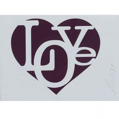 Plantilla de Stencil Love (15x10,5cm) A6-031