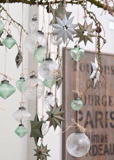 Mint and white Christmas decoration