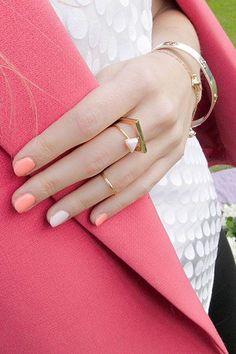 light, spring nails