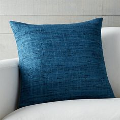 "Trevino Aegean Blue 20"" Pillow with Down-Alternative Insert 