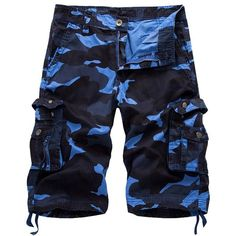 Camo Cargo Shorts with Flap Pockets (48 BAM) ❤ liked on Polyvore featuring men's fashion, men's clothing, men's shorts, mens camo cargo shorts, mens cargo shorts, mens camouflage cargo shorts, mens camo shorts and camouflage mens shorts