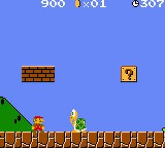 Nintendo! one of the first video games i played. i still haven't conquered it yet. it's a pain in the you know what.
