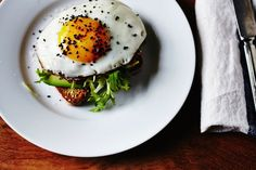 Avocado Toast with Egg & Frisee | Julia Gartland for Camille Styles