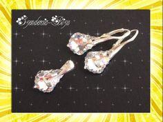 Schmuckset in Silber mit Kristallen Baroque Comet Argent Light 16mm