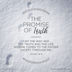 "Day 7- The Promise of Truth // ""I am the Way and the Truth and the Life. No one comes to the Father except through Me."" {John 14:6} // 25 Days of Christmas Promises #incourageChristmas"