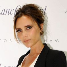 Hair Updos: The Easy-To-Copy Styles From The Red Carpet - Victoria Beckham with bouffant hairstyle from InStyle.com
