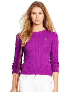 Cable-Knit Cotton Sweater - Polo Ralph Lauren Crewnecks