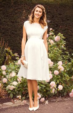 Maya Maternity Wedding Gown Short Ivory - Maternity Wedding Dresses, Evening Wear and Party Clothes by Tiffany Rose Civil Wedding Dresses, Designer Wedding Dresses, Wedding Gowns, Wedding Venues, Tiffany Rose, Dresses For Pregnant Women, Pregnant Wedding Dress, Maternity Wedding, Vintage Glamour