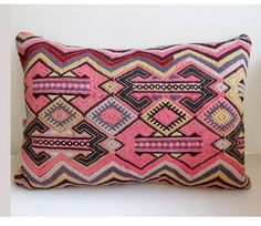 Anatolian wool kilim Pillow