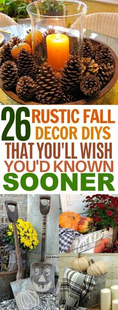 Rustic Fall Decor Ideas to DIY With the Family These 26 Rustic Home Decor Ideas for Fall Are So Cozy And Adorable!These 26 Rustic Home Decor Ideas for Fall Are So Cozy And Adorable! Rustic Fall Decor, Fall Home Decor, Autumn Home, Unique Home Decor, Cheap Home Decor, Diy Home Decor, Cheap Fall Decorations, Country Fall Decor, Room Decor