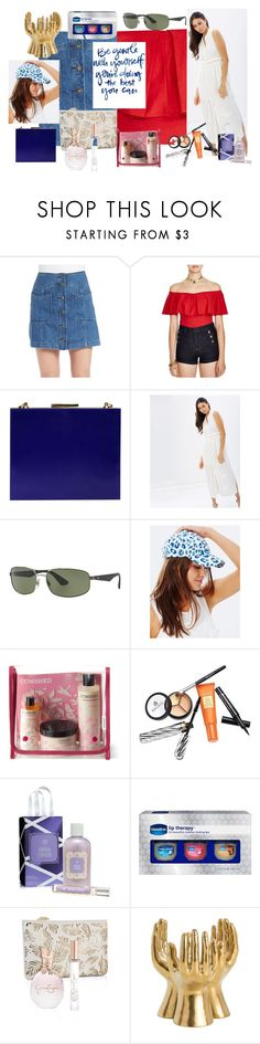 """""""Expressions of love."""" by utitito on Polyvore featuring Free People, Niclaire, Bardot, Ray-Ban, Tigerlily, Cowshed, Borghese, Therapy, Jessica Simpson and Arteriors"""