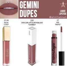 Velour Liquid Lipstick, Lipstick Dupes, Lipstick Shades, Makeup Dupes, Beauty Dupes, Makeup Inspo, Nyx, Hair And Nails, Gemini