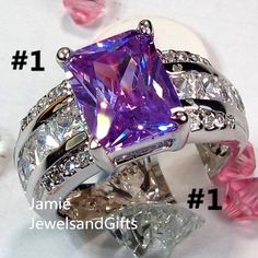 6/7/8/9/10/11 Choose 1 - Stunning Violet Ring. Starting at $1