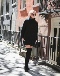Pin for Later: 8 New Year's Eve Dresses That Work For Every Body Type A Turtleneck Sweaterdress Wear with: over-the-knee boots, strappy heels, and a belt, or layered with a trench coat.