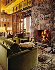 Rustic Living Room by Mimi London and Andersson-Wise in Montana