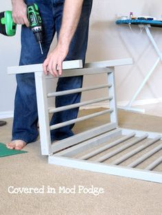Frugal DIY Baby Gate - awesome because these things are expensive!