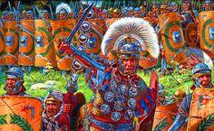 Roman centurion leading the legion into battle in Dacia