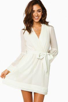 Rorey Wrap Dress in Ivory