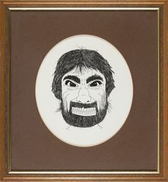Drawing of Keith Moon by fellow band member  the late great Ox John Entwistle