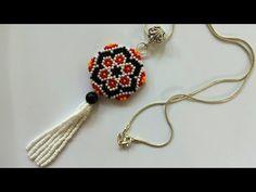 Diy Jewelry Necklace, Seed Bead Jewelry, Bead Jewellery, Jewelry Crafts, Seed Bead Patterns, Beading Patterns, Crochet Flower Tutorial, Beaded Jewelry Designs, Beading Tutorials