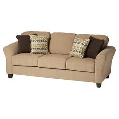 Featuring flared arms and plush high-density foam cushions, the Franklin Sofa is stylish and welcoming. Block wooden feet and a crisp welt offer refined details, while a reinforced hardwood frame promises lasting quality. Available in classic, versatile hues, this seat complements an array of styles.<br/><br/>Turn your living room into an inviting haven with our Franklin collection. An updated take on familiar designs, this set offers a versatile look that's easy to cust...