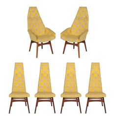 Adrian Pearsall High-Back Dining Chairs | From a unique collection of antique and modern dining room chairs at https://www.1stdibs.com/furniture/seating/dining-room-chairs/