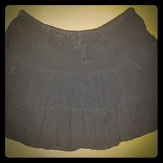 Black Cotton Skirt All black, mid thigh length, 100% cotton In Gear Skirts