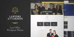 Download and review of Lawyer Attorneys - A Law Office WordPress Theme, one of the best Themeforest Corporative themes
