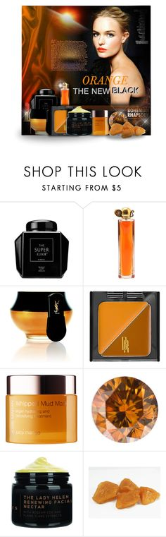 """""""Orange The New Black"""" by angelflair ❤ liked on Polyvore featuring beauty, Givenchy, Yves Saint Laurent, Trilogy, Black Radiance, Josie Maran and By Terry"""