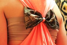 CAMO BOW Back Racerback Tank Top Swimsuit Cover by DesignedByTwo