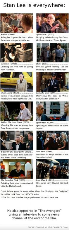 "I love playing ""Spot Stan Lee"" in Marvel movies :-)"