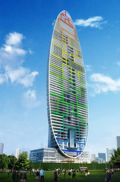 The Indra Tower will be in Dadar, South Mumbai, India. The residential building is a project of architect James Law Cybertecture