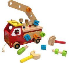 Werkbank FEUERWEHR Bausatz MOTORIK Holz I´M TOY NEU | eBay