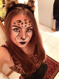 cat halloween makeup - like the mouth/nose on this one