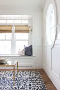 Window Seat - White Walls - Simply White - Benjamin Moore - Interior Paint