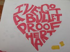 Let's take a moment to appreciate this.  Bulletproof Heart- My Chemical Romance but in black